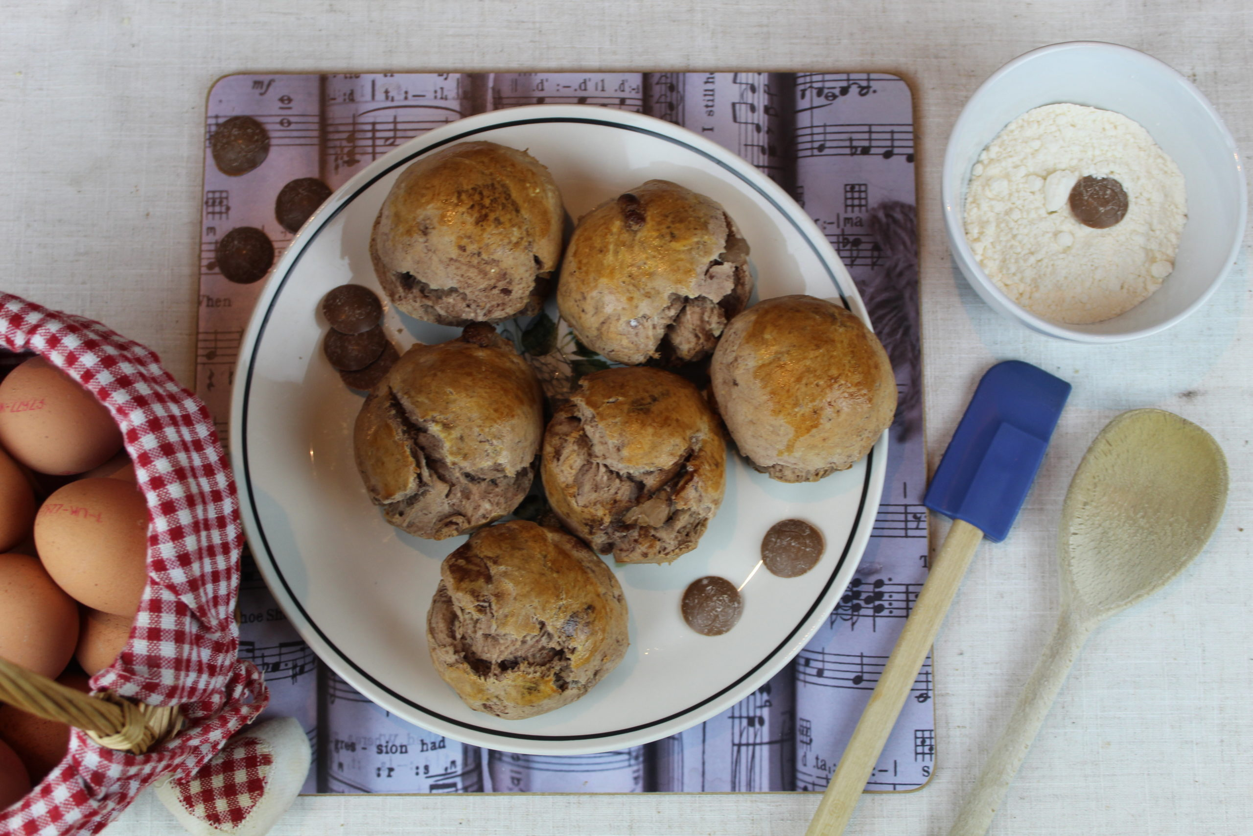 Gluten free chocolate scones with a salted caramel centre recipe